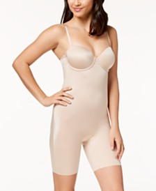 SPANX Women's  Suit Your Fancy Strapless Cupped Mid-Thigh Bodysuit 10156R