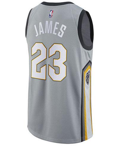 adidas Men's LeBron James Cleveland Cavaliers City Swingman Jersey