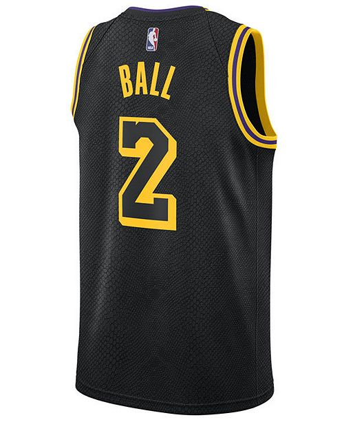313a3a38c546 Nike Men s Lonzo Ball Los Angeles Lakers City Swingman Jersey ...