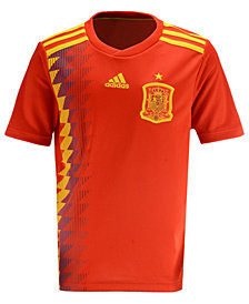 adidas Spain National Team Home Stadium Jersey, Big Boys (8-20)