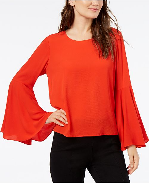 4b5ae6504a0473 ... Vince Camuto Bell-Sleeve Top