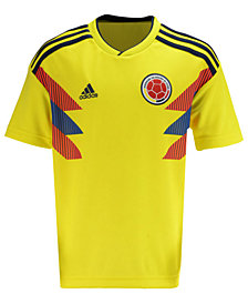 adidas Colombia National Team Home Stadium Jersey, Big Boys (8-20)
