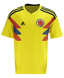 adidas Colombia National Team Home Stadium Jersey, Big Boys (8-20)