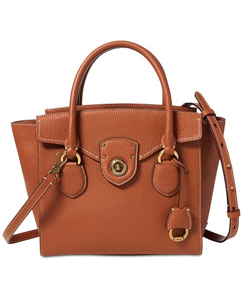 Lauren Ralph Lauren Millbrook Satchel - Handbags   Accessories - Macy s 6f8d2eff2e6