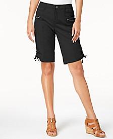 Zipper Bermuda Cargo Shorts, Created for Macy's