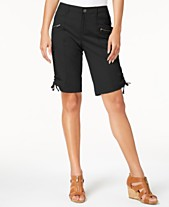 9f2f7e158e2 Style   Co Curvy-Fit Zipper Bermuda Shorts