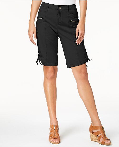 Style & Co Zipper Bermuda Cargo Shorts, Created for Macy's