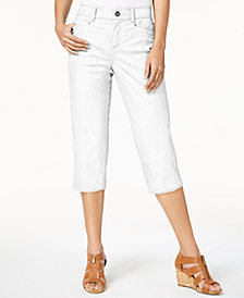 Style & Co Split-Hem Capri Pants, Created for Macy's