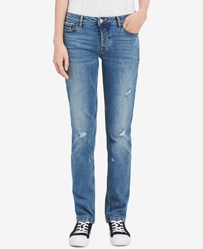 Calvin Klein Jeans Destructed Straight Jeans