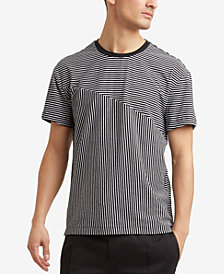 Kenneth Cole.Blocked Stripe T-Shirt