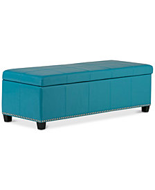 Rhodes Storage Bench, Quick Ship