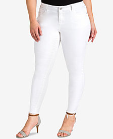 standards and practices Trendy Plus Size Ultra-Skinny Jeans