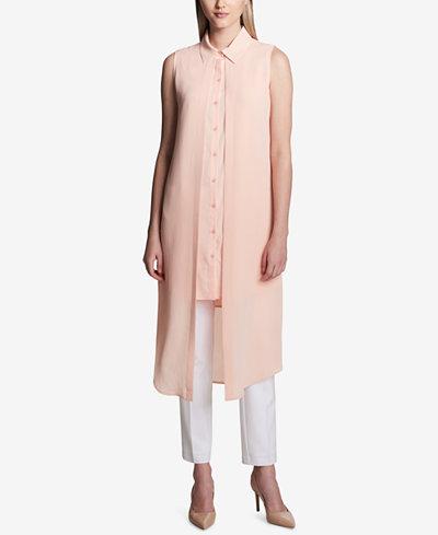Calvin Klein Layered Sleeveless Popover Tunic