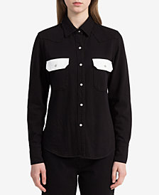 Calvin Klein Jeans Colorblocked Western Shirt