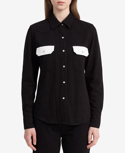 Calvin Klein Jeans Colorblocked Western Shirt