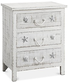 Seaside 3-Drawer Chest, Quick Ship