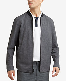 Kenneth Cole Mesh Full-Zip Tech Bomber Jacket