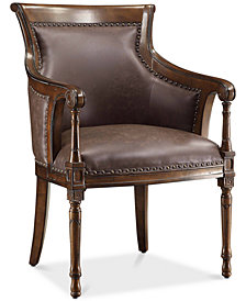 Kensington Bonded Leather Accent Chair, Quick Ship