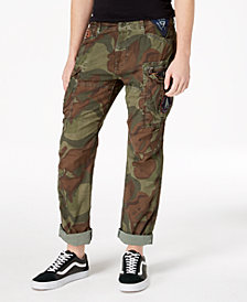 Superdry Men's Slim-Fit Stretch Camo Ripstop Parachute Pants