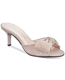 Caparros Lydia Bow Slide Evening Sandals