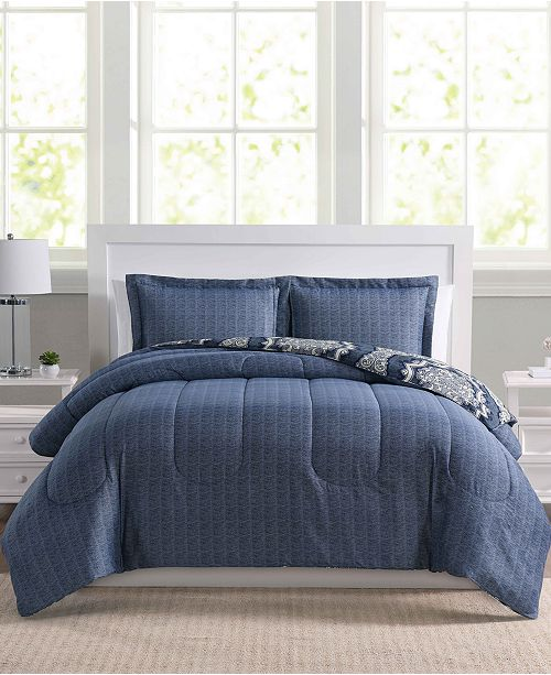 Pem America Closeout Dorchester 3 Pc Reversible Comforter Sets Created For Macy S Bed In A Bag Bath