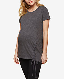 Motherhood Maternity Lace-Up T-Shirt