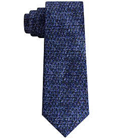 DKNY Men's Photo Realistic Dot Print Slim Silk Tie