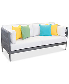CLOSEOUT! Key Largo Aluminum Sofa with Sunbrella® Cushions, Created for Macy's