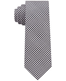 DKNY Men's City Check II Silk Slim Tie