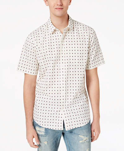 American Rag Men's Shadowed Squares Shirt, Created for Macy's