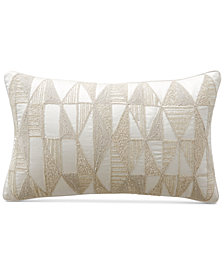 """Hotel Collection Gilded Geo 14"""" x 22"""" Decorative Pillow, Created for Macy's"""