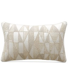 "Hotel Collection Gilded Geo 14"" x 22"" Decorative Pillow, Created for Macy's"