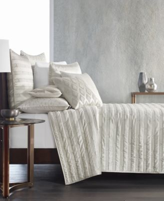 Gilded Geo Embroidered Quilted King Sham, Created for Macy's