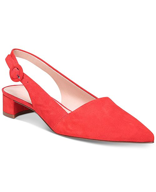 Franco Sarto Vellez Pointed-Toe Slingback kitten heel Pumps Women's Shoes