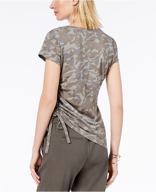 INC Glamorous Concepts Camo C International T Created Print Macy's I N Camo for Shirt Cotton q1SqnxwOfr