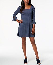 Style & Co Petite Bell-Sleeve Trapeze Dress, Created for Macy's