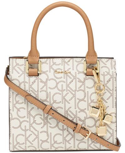 Calvin Klein Logan Signature Crossbody Handbags Accessories Macy S