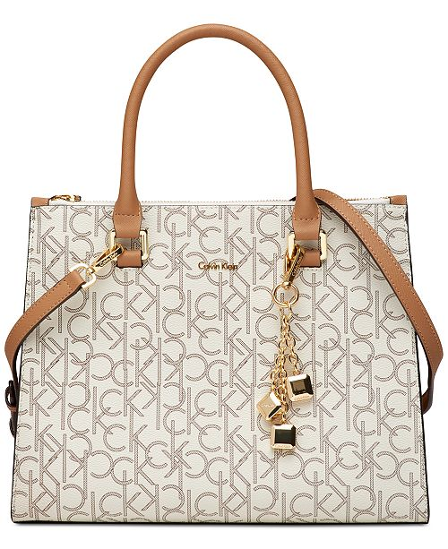 b091efcc4a Calvin Klein Logan Signature Satchel   Reviews - Handbags ...