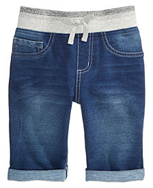 Vanilla Star Denim-Look Knit Bermuda Shorts, Big Girls