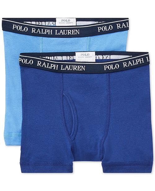 967d25393b0f Polo Ralph Lauren 2-Pk. Boxer Brief Underwear, Toddler, Little & Big ...