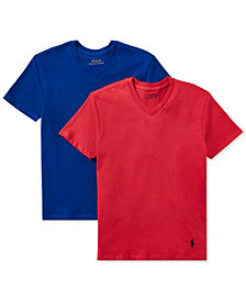 Polo Ralph Lauren 2-Pk. V-Neck Cotton T-Shirt, Little & Big Boys
