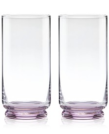 CLOSEOUT! kate spade new york Charles Lane Highball Glasses, Set of 2