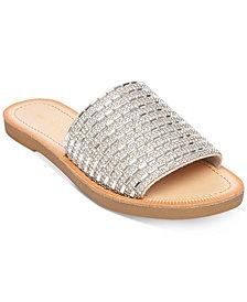 Madden Girl Luluu Embellished Slide Sandals