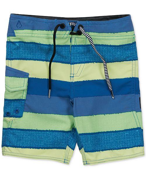 b31f619990 Volcom Magnet Stripe Swim Trunks, Big Boys - Swimwear - Kids - Macy's
