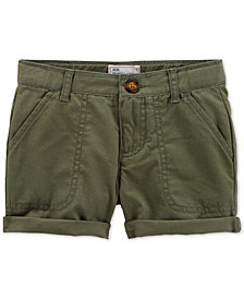 Carter's Cotton Twill Rolled Cuff Shorts, Little Girls & Big Girls