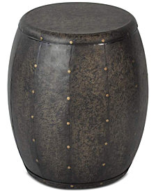Tawney Drum Accent Table, Quick Ship