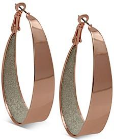 """2"""" Large Inner Glitter Hoop Earrings"""