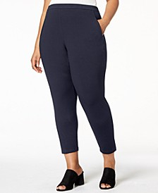 Plus Size Stretch Jersey Pull-On Pants