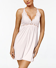Thalia Sodi Lace-Bodice Knit Chemise, Created for Macy's