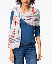 I.N.C. Colored Up Plaid Wrap, Created for Macy's